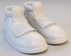 Cartoon Long Sport Shoes 3D model