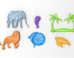 Printable Animal Relief Set
