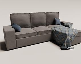 sofa - L shape 3D model