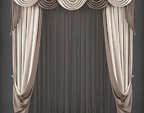 Curtain 3D model 246 VR / AR ready