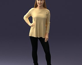 Woman in sweater 0073 3D Print Ready