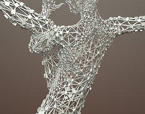 Ballerina Dancer Abstract Sculpture 3 3D