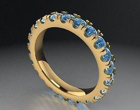 Eternity halo ring 433 3D printable model