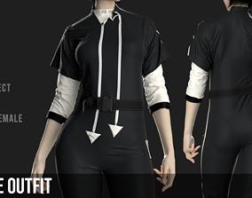 Female Outfit Marvelous Designer 3D model 1