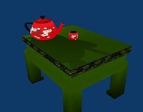 Tea assets 3D model