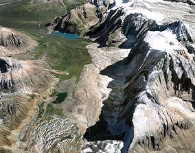 earth Mountain landscape 3D model