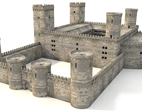 3D model VR / AR ready Castle