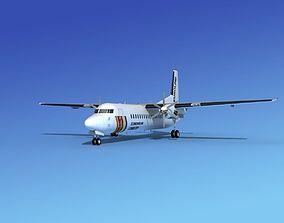 3D Fokker 50 EuroLink
