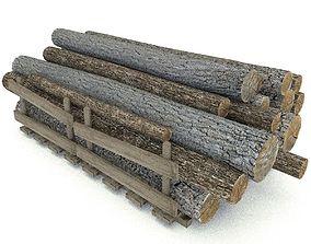 3D model Wood Log 4 Type 1