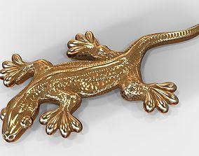 Lizard pendant 3D printable model