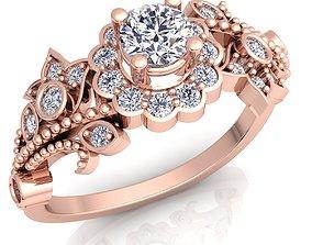 Royal Vintage Woman Diamond Ring 3D printable model