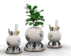 Sci-fi pot 3D printable model