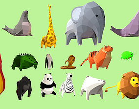 3D model Low Poly Stylized Animals and Creatures
