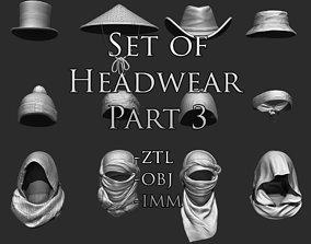 3D Set of Headwear Part 3