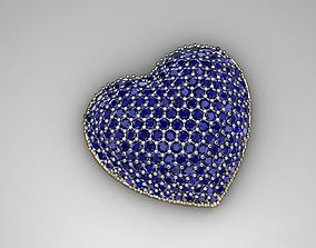 3D printable model MGold036 - Beautiful Heart Pendant
