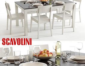 Scavolini Duke and Mika Dining Set 3D model