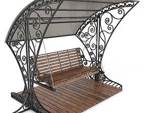 area 3D model Stainless Steel Garden Swing