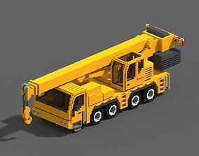 3D model Voxel Crane Truck