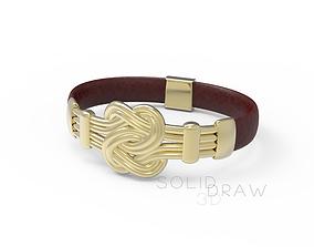 3D printable model BRACELET knot TIED 2 gold silver