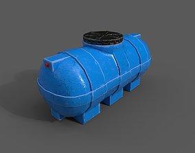 Plastic Water Storage Tank PBR 3D asset