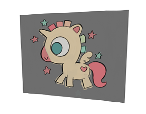 3D Unicorn drawing