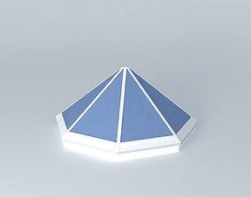 Skylight. Octahedral cone 3D model