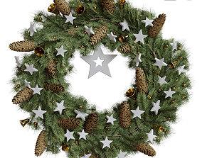 3D model Christmas wreath 4