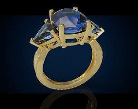 Three gemstone ring Cg 3 17 3D printable model