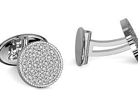Diamond cufflinks stud milligrain 3d printable 3
