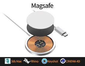 Apple Magsafe wireless charger 3D model