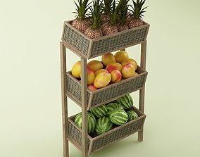 Store Fruits Stand 3D