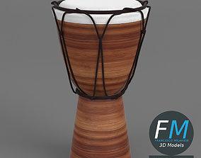 Djembe bongo drum 3D model