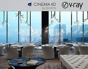 VRay - C4D scene files - Restaurant Interior 3D model