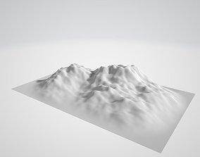 Mountain - Landscape terrain 3D asset