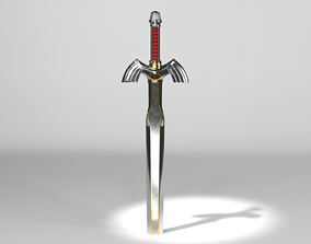 Master sword A Link to the Past 3D PBR