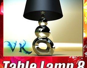 3D Modern Contempo Table Lamp 08
