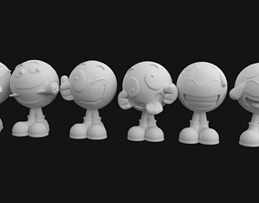 Pack with Emoji dolls stl for 3D priting
