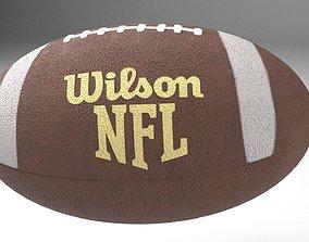 American Football Ball - Wilson NFL 3D model