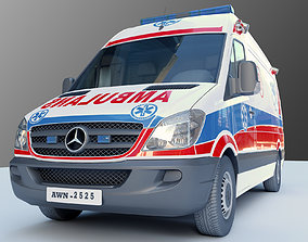 transportation Ambulance Car 3D model