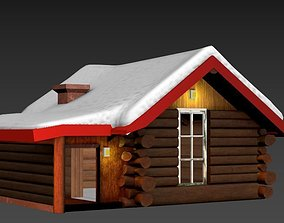 3d snow house game-ready
