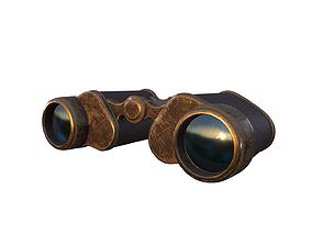 Binoculars Low-poly 3D model low-poly