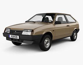 3D model VAZ Lada 2108 1984