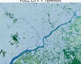 3D Philadelphia with Terrain