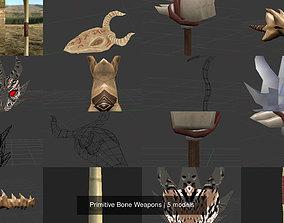 3D Primitive Bone Weapons