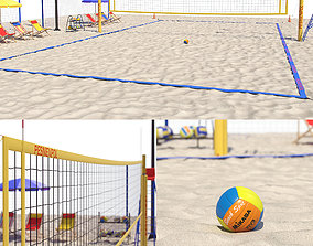Volleyball court ground 3D