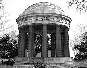 3D model Memorial World War Colonnade
