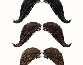 Mustache Low Poly 4 3D model
