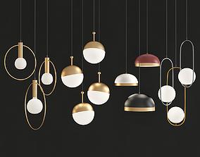 Four Hanging Light 1 3D asset
