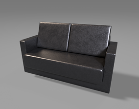 bedroom Leather Sofa 3D model realtime