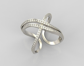 Ring with diamonds 3D printable model jewelry